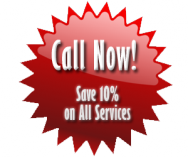 10% of All Services! Call Today!